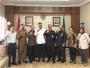 Ketua Pengadilan Negeri Medan Sutio Jumagi Akhirno Menyambut Kunjungan Kerja KI Provsu